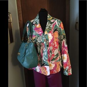 Coldwater Creek Floral Jacket Size Large